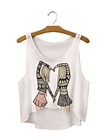 Women's Fashion 3D Print Midriff Vest