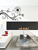 Modern Style DIY Romantic Branches Mute Wall Clock