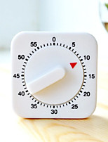 White Plastic Square Shaped 55 Minutes Cooking Timer for Kitchen Cooking