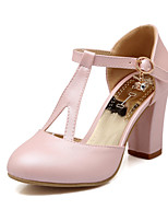 Women's Shoes Chunky Heel Heels/Round Toe/Closed Toe Pumps/Heels Wedding/Party & Evening/Dress Blue/Pink/White