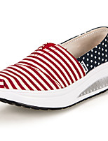 Women's Shoes Canvas Wedge Heel Wedges/Platform/Crib Shoes Loafers Office & Career/Athletic/Casual Red