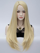 Long Straight Blone Synthetic Wig Womens' Neat Bang Hair High Quality synthetic Wigs