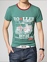 Men's Fashion Cycling Printing Slim Short Sleeved T-Shirt