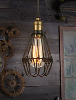 Lampe suspendue - Vintage/Rustique - avec Ampoule incluse - Métal