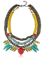 Fashion Vintage Women's clothing Exaggerated stone Metal Stout Maxi Statement Necklaces & Pendants Jewelry
