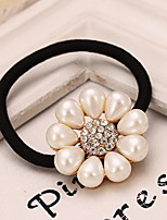 Lovely Diamond Pearl Simple Elegant  Pure White Flower Hair Circle Two Optional