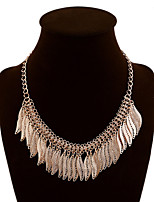 NEW Style Women's Eye-Catching Leaf Tassel Hand Knitting Necklace Wedding/Party  1PCS
