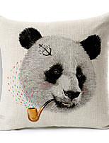 l'usage de la bande dessinée en coton panda / linge taie d'oreiller décoratif