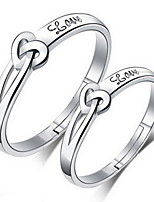 Couples'Concentric Silver Ring