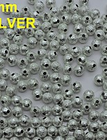 N133 100pcs/lot 3mm Lovely Silver Round Shape Metal Rhinestones with Hole for Nail Art Tools