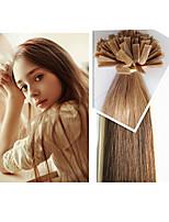 300g / pc brazilian menselijk haar flat tip haarverlenging steil haar 1g / strand, 100g / pc 18