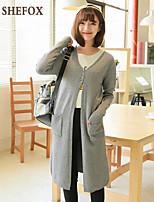 Women's Casual Stretchy Thin Long Sleeve Cardigan (Knitwear) SF7A30