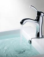 ShengbaierSingle Handle Chrome Centerset Bathroom Sink Faucet(short)