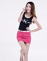 Women's Candy Color Denim Short Skirt