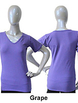 Cotton/Lycra Cap Sleeve V Neck T-shirt More Colors for Girls and Ladies