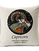Modern Style Constellation Capricorn Patterned Cotton/Linen Decorative Pillow Cover