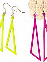 Fashion Pierced Colour Triangular Earrings