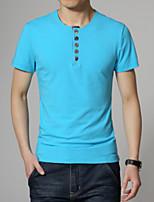 Herren Freizeit/Übergröße T-Shirt  -  Einfarbig Kurz Baumwolle/Polyester