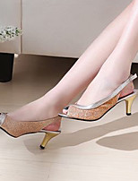 Women's Shoes Stiletto Heel Heels/Open Toe Sandals Dress Black/Blue/Pink/Silver/Gold
