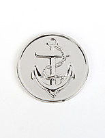 Birthday Gift Girl's 33mm Alloy Mi Moneda Silver Plated Anchor Coin for 35mm Coin Holder Pendant