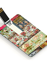 64GB Retro Flower Design Card USB Flash Drive