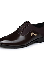 Men's Shoes Outdoor/Office & Career Leather Oxfords Black/Brown