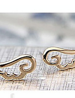 Angel Wings Alloy Stud Earrings (Gold and Silver)