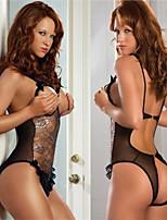 Women's Sexy Hot Lingerie Teddies Babydoll G-string Underwear Nightwear Lace Sheer Top Bottom Open B166