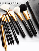 10 Natural Animal Hair Cerro Qreen Makeup Brush Set Up Sets Of Brush Black Shank Gold Tube Part Of The Mail