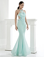 Homecoming TS Couture Formal Evening Dress - Trumpet/Mermaid High Neck Floor-length Tulle