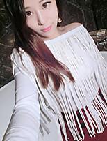Women's Casual Micro-elastic Long Sleeve Regular T-shirt (Cotton)