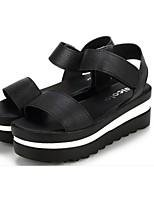 Women's Shoes Synthetic Platform Platform Sandals Casual Black/White