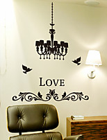 Wall Stickers Wall Decals, Modern Crystal Chandelier PVC Wall Stickers
