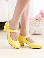 Girls' Shoes Casual Round Toe Fabric/ Pumps/Heels Black/Yellow/Pink/Beige