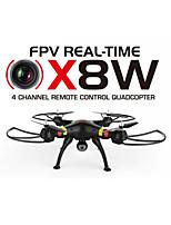 Syma x8w cámara drone wifi en tiempo real de 4 canales 2,4 g de vídeo de 6 ejes Quadcopter cámara FPV ángulo venture rc