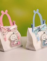 Pink and Blue Cartoon Baby Design  Candy Favor Gift Bag For Baby Shower Set of 12