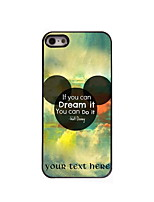 Personalized Gift Dream and Do Pattern Aluminum Hard Case for iPhone 4/4S