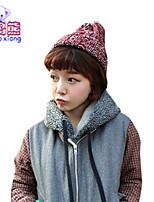 Waboats Melange Yarn Fashion Knitting Autumn Winter Leisure Joker Hat