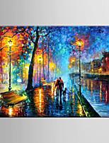 peinture à l'huile abstraite décoration nuit scène la main toile tendue avec encadrée peints