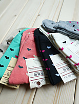 HONORV™ Women's Thin Candy Love Shape Pattern Socks(6 Pairs/Package,Mix Colors)