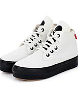 Zapatos de mujer - Tacón Plano - Plataforma / Comfort / Punta Redonda - Zapatos de Deporte - Exterior / Casual / Deporte - Tela -Negro /