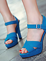 Women's Shoes Faux Leather Stiletto Heel Heels Sandals/Pumps/Heels Office & Career/Casual Black/Blue/Purple/Red