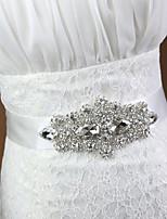 여성용 허리 장식띠 창틀 새틴 웨딩/파티/이브닝 크리스탈/모조 다이아몬드