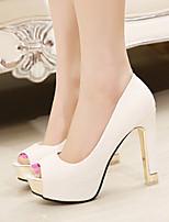 Women's Shoes Stiletto Heel Peep Toe Pumps Party & Evening/Dress Black/White