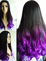 Ombre Wig Cheap Wigs Fashion Wig Wave Female Elegant Wigs Beauty Wavy Synthetic two-tone
