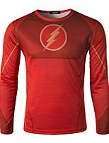 Men's Casual/Sport Print Long Sleeve Regular T-Shirt