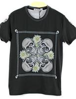 European Style TEE Digital Printing 3D T-shirt Long Skeleton Harajuku Sleeved T-shirt