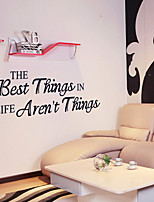 Wall Stickers Wall Decals Style The Best English Words & Quotes PVC Wall Stickers