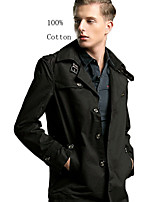 Men's Fashion/Casual/Work/Formal/Sport/Plus Sizes High Quality Pure Long Jacket (100% Cotton)