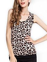 Women's Sexy Micro-elastic Sleeveless Regular Vest (Cotton Blends)